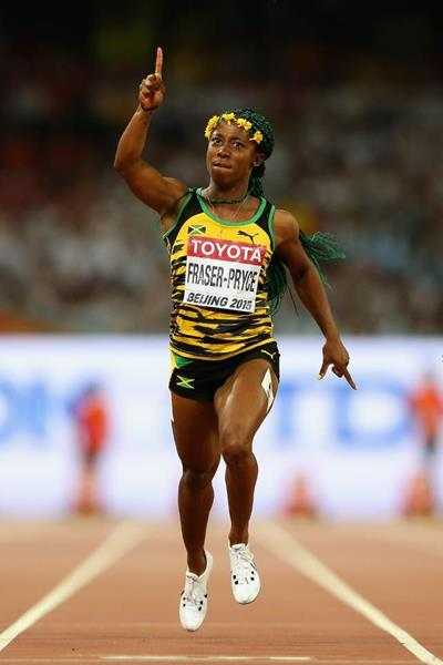 Shelly-Ann Fraser-Price wins 100M in Beijing 2015